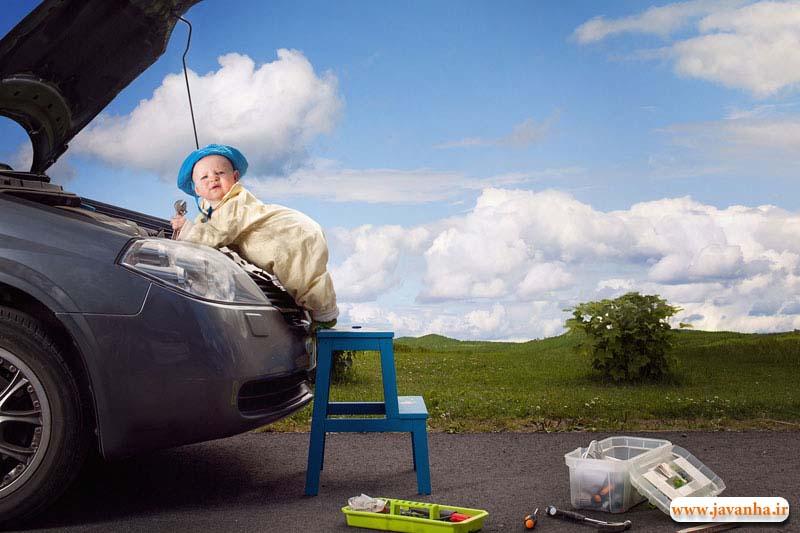 دختر ناز تعمیر کار ماشین ! + عکس