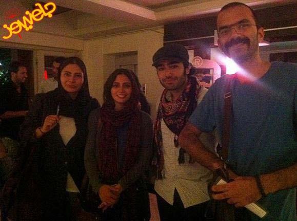 عکس پگاه آهنگرانی با یکی از شرکت کنندگان آکادمی موسیقی گوگوش