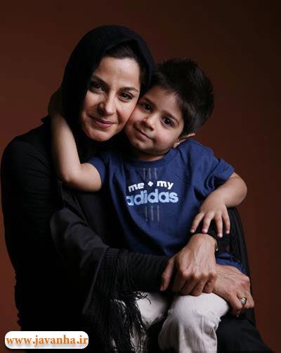 سیما تیرانداز همراه پسرش +عکس